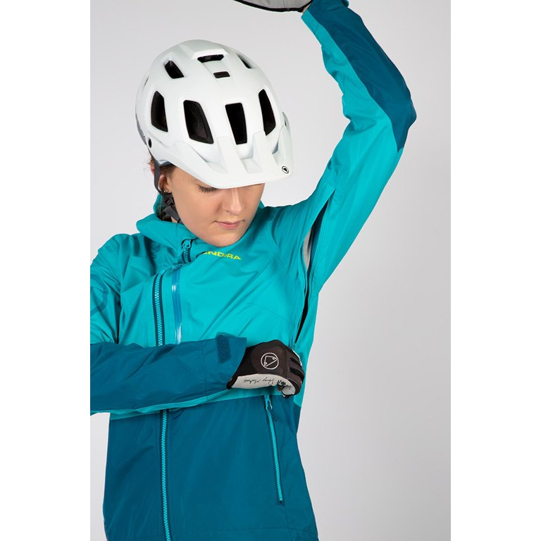 Image of Endura Women SingleTrack Jacket - kingfisher green