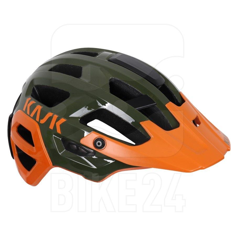 KASK Rex MTB Helm - Dark Green Orange