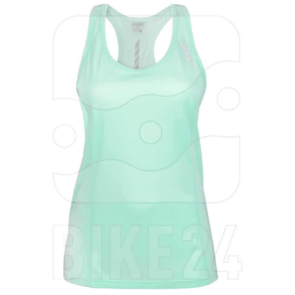 2XU GHST Short Sleeve Women's Singlet - mint/white reflective