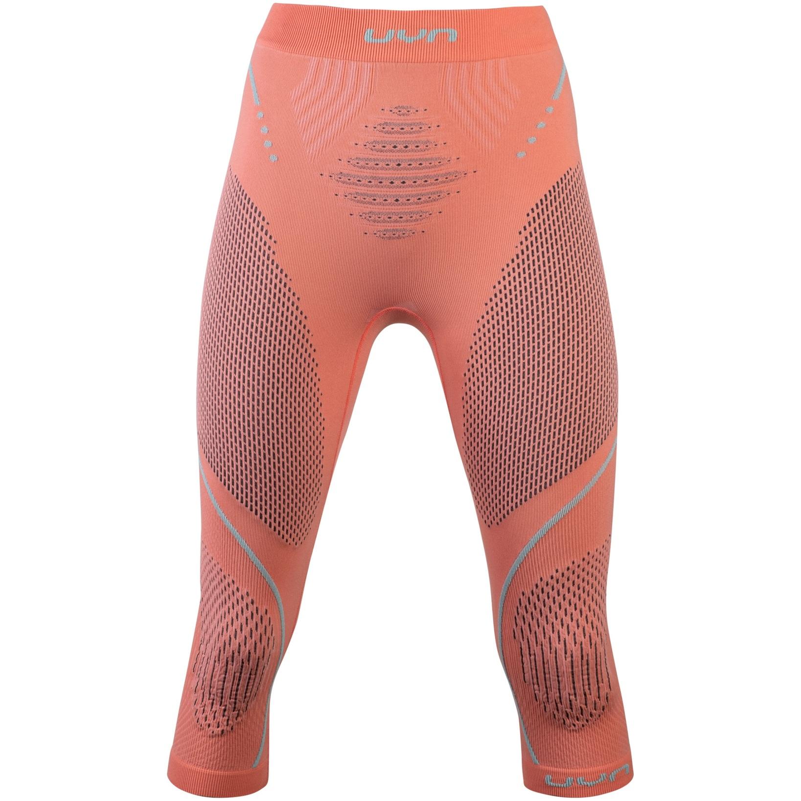 UYN Evolutyon Underwear 3/4 Pants Women - Coral/Anthracite/Aqua