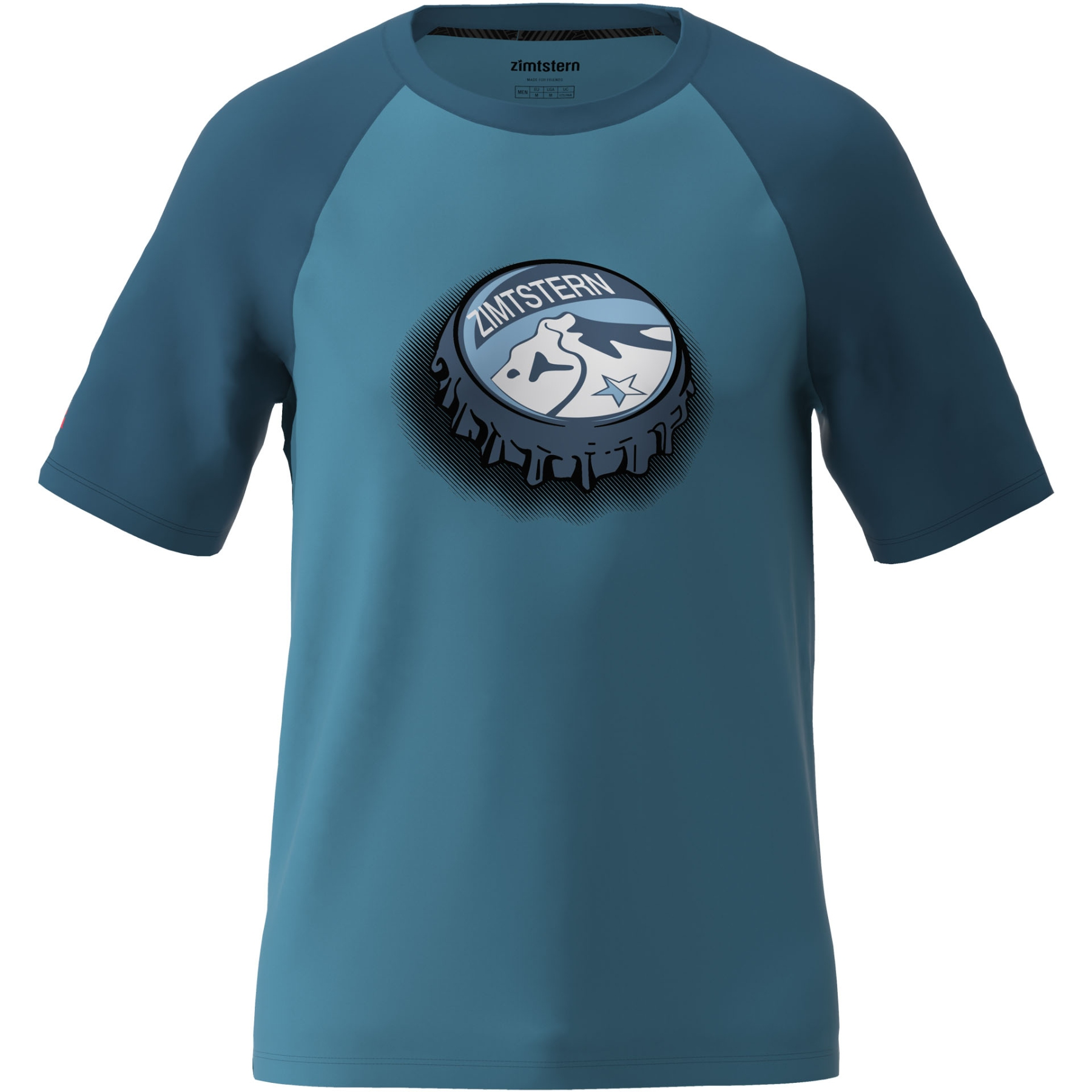 Zimtstern Cupz T-Shirt - blue steel/french navy