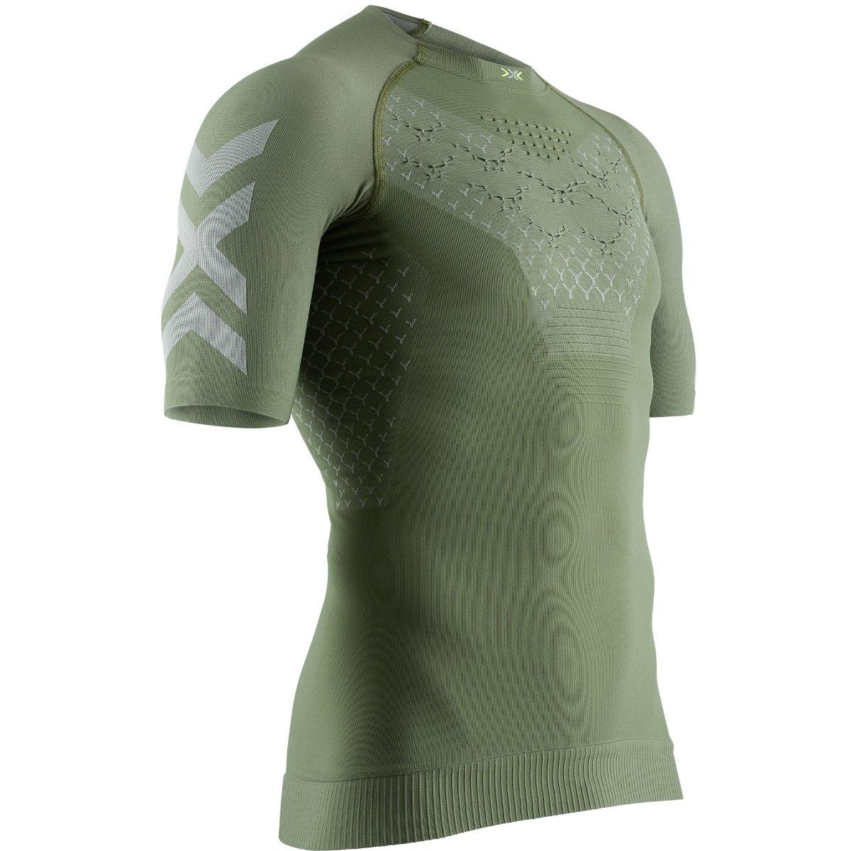 X-Bionic TWYCE 4.0 Run Kurzarm-Laufshirt für Herren - olive green/dolomite grey