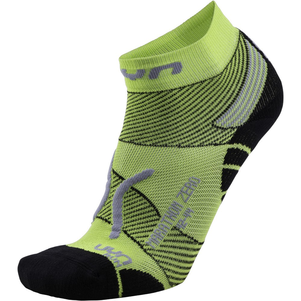 UYN Running Marathon Zero Socken - Green Lime/Black