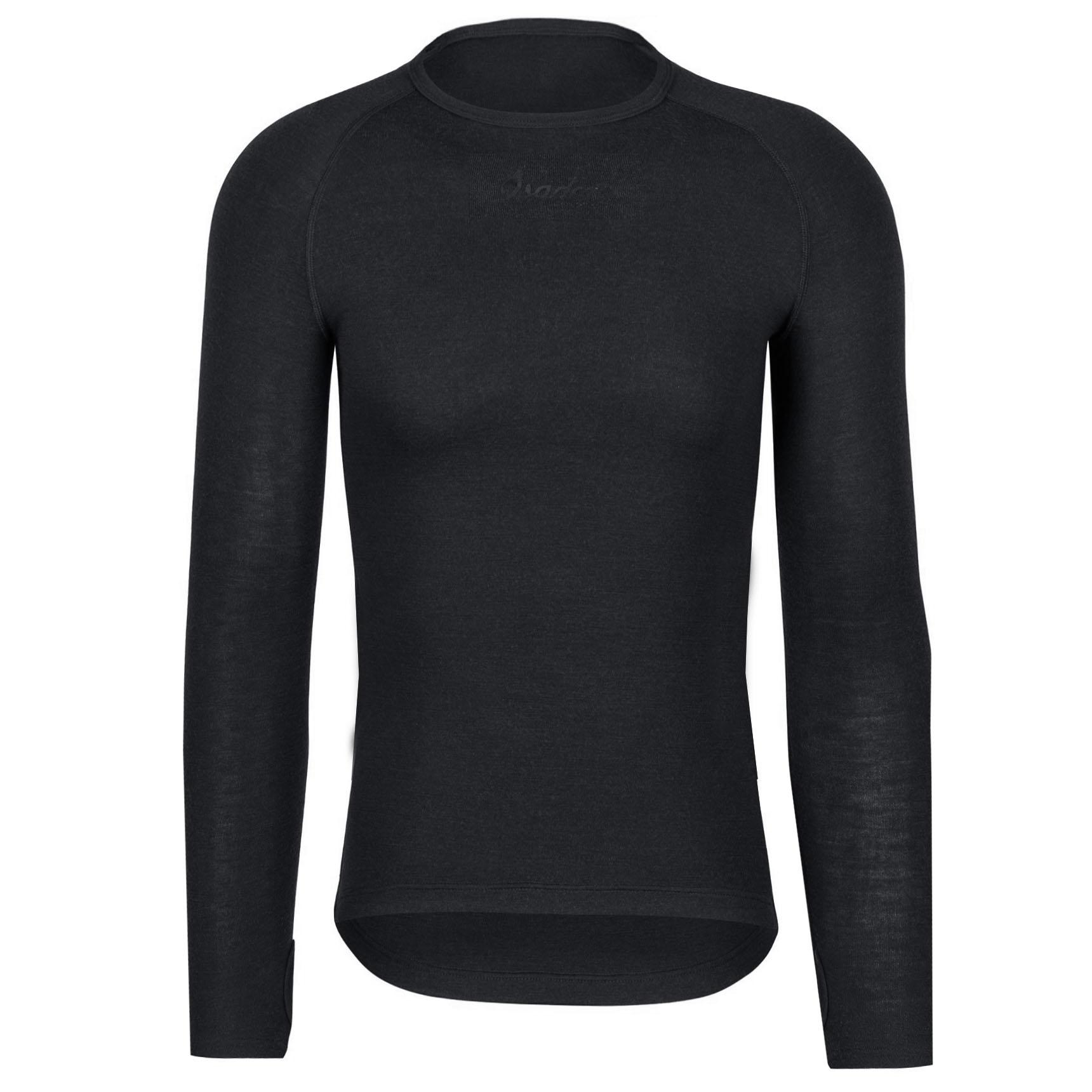 Isadore 100% Merino Langarm-Baselayer - Black