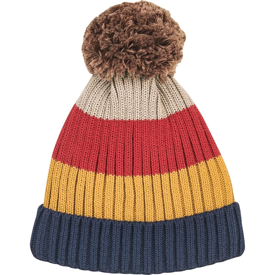 Finkid POMPULA Kids Bobble Hat - navy/red