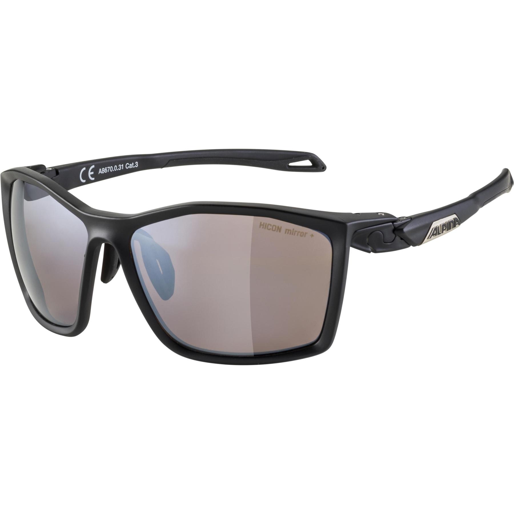 Alpina Twist five HM+ Glasses - black matt (silver) / Hicon black mirror