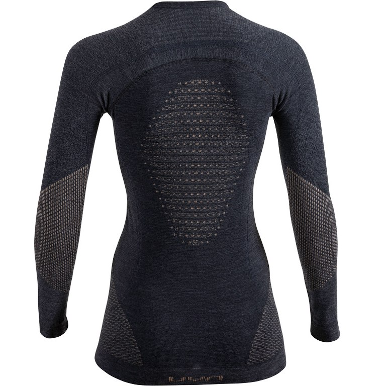 Image of UYN Fusyon Cashmere Underwear Longsleeve Shirt Women - grey stone/copper