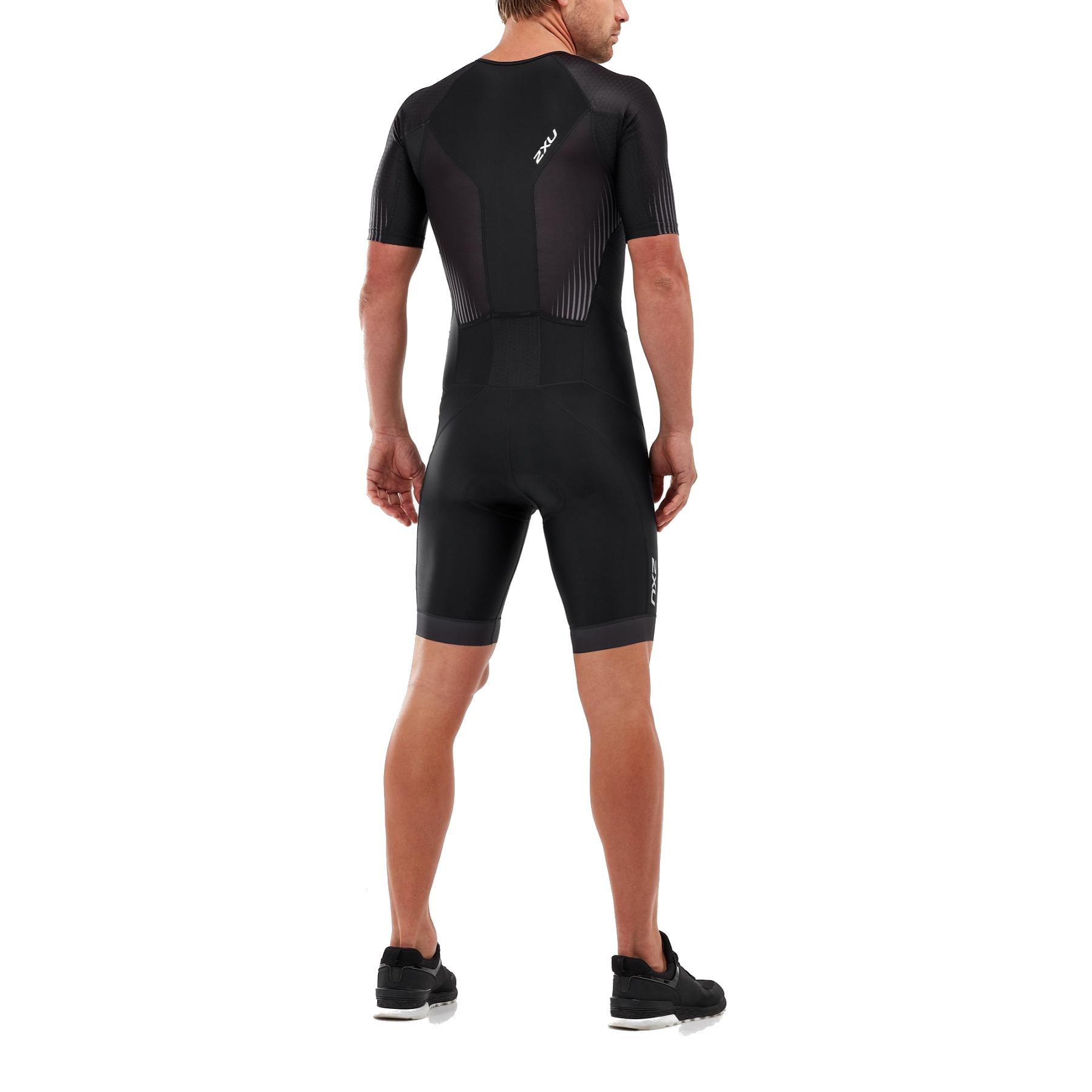 Imagen de 2XU Perform Full Zip Sleeved Trisuit - black/shadow