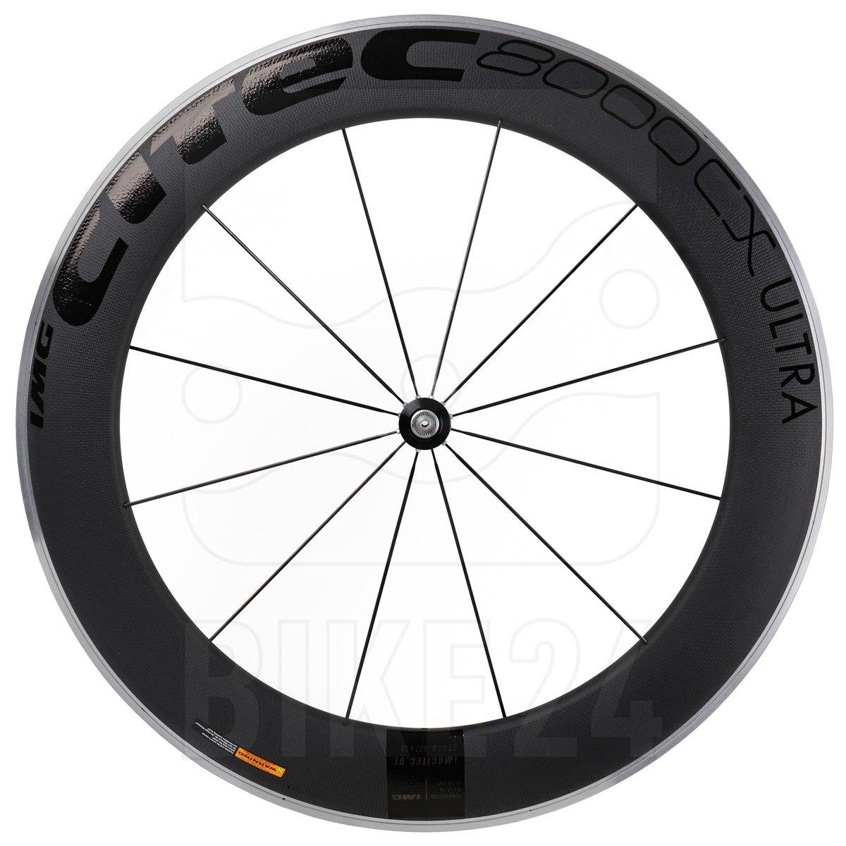 CITEC 8000 CX / 80 Ultra Carbon 28 Inch Front Wheel - Clincher - 9x100mm QR - black