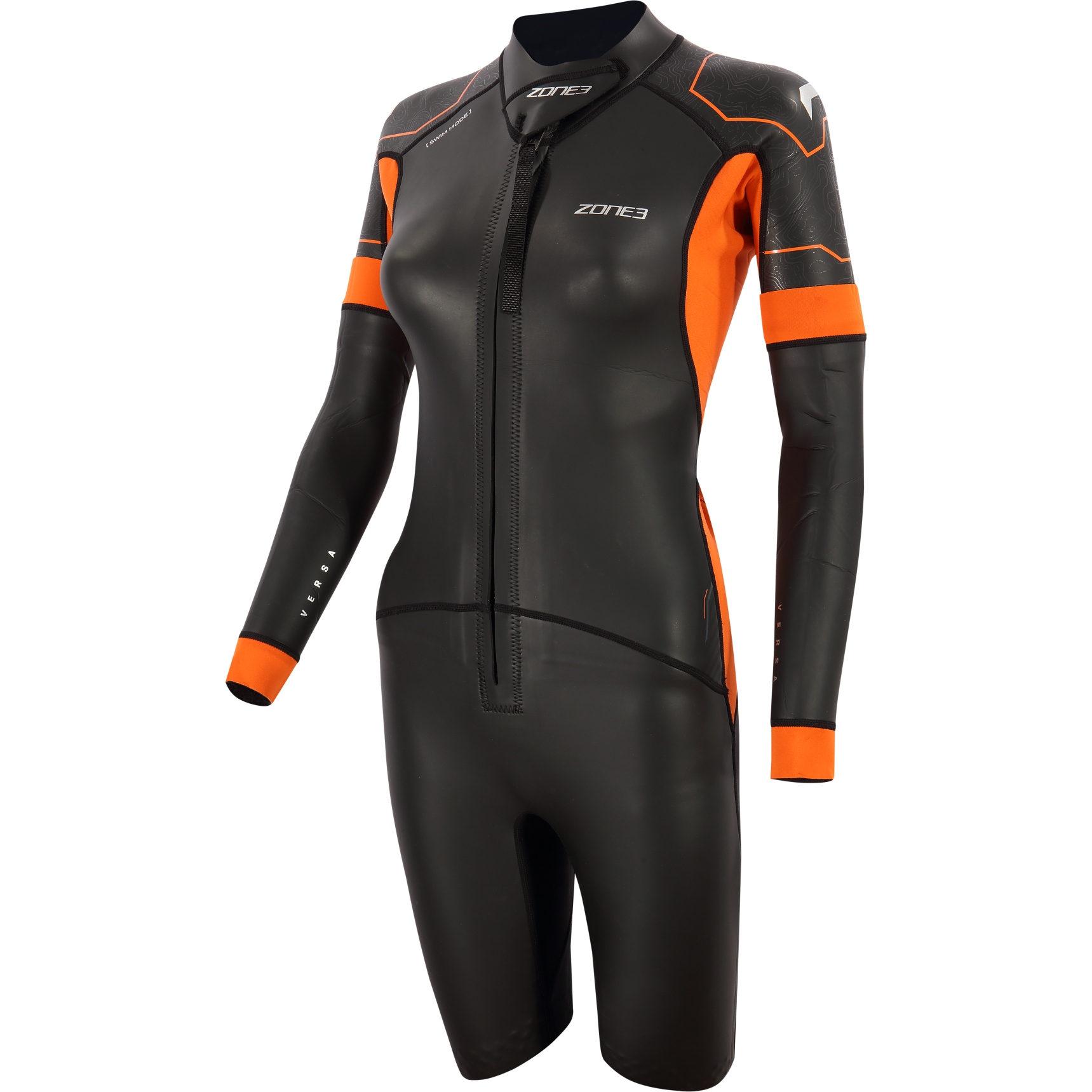 Zone3 Versa Damen Neoprenanzug - black/orange/gunmetal