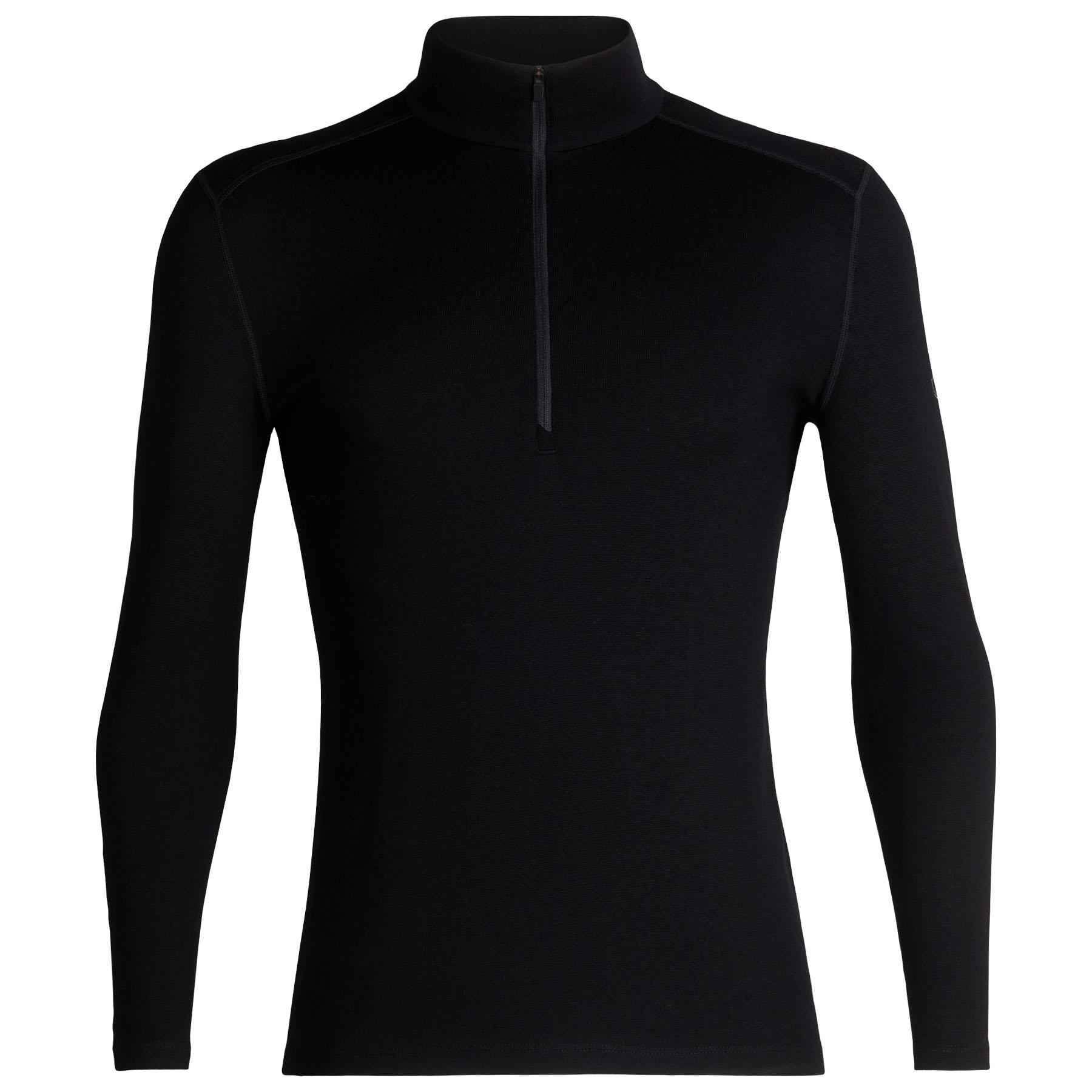 Produktbild von Icebreaker 260 Tech Half Zip Herren Langarmshirt - Black