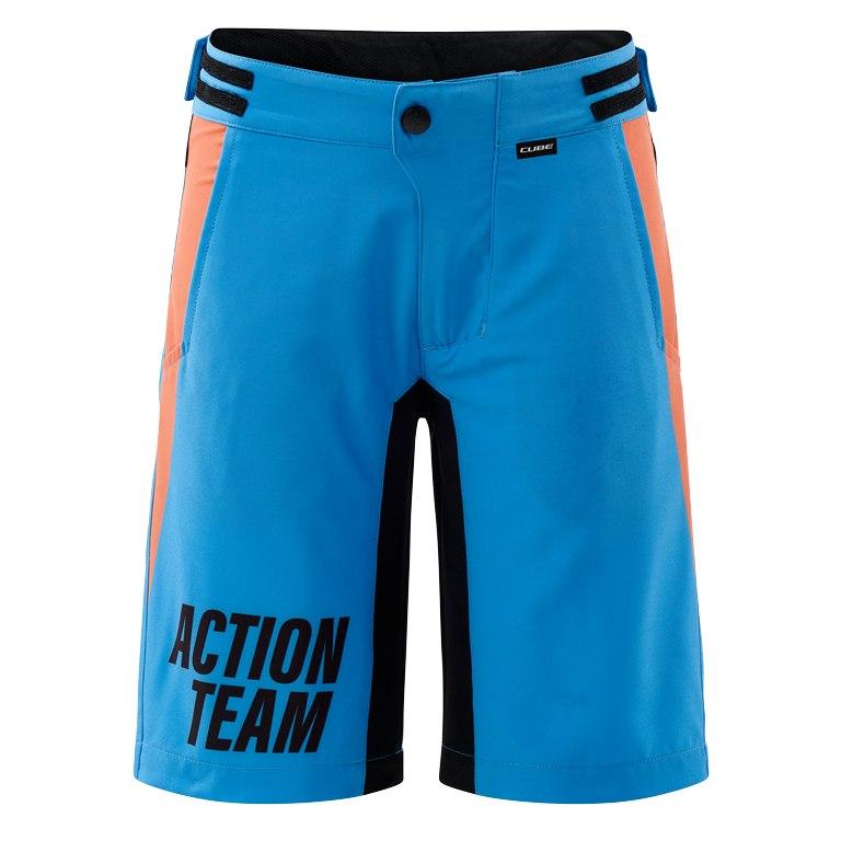 CUBE JUNIOR Baggy Shorts X Actionteam - blue´n´orange