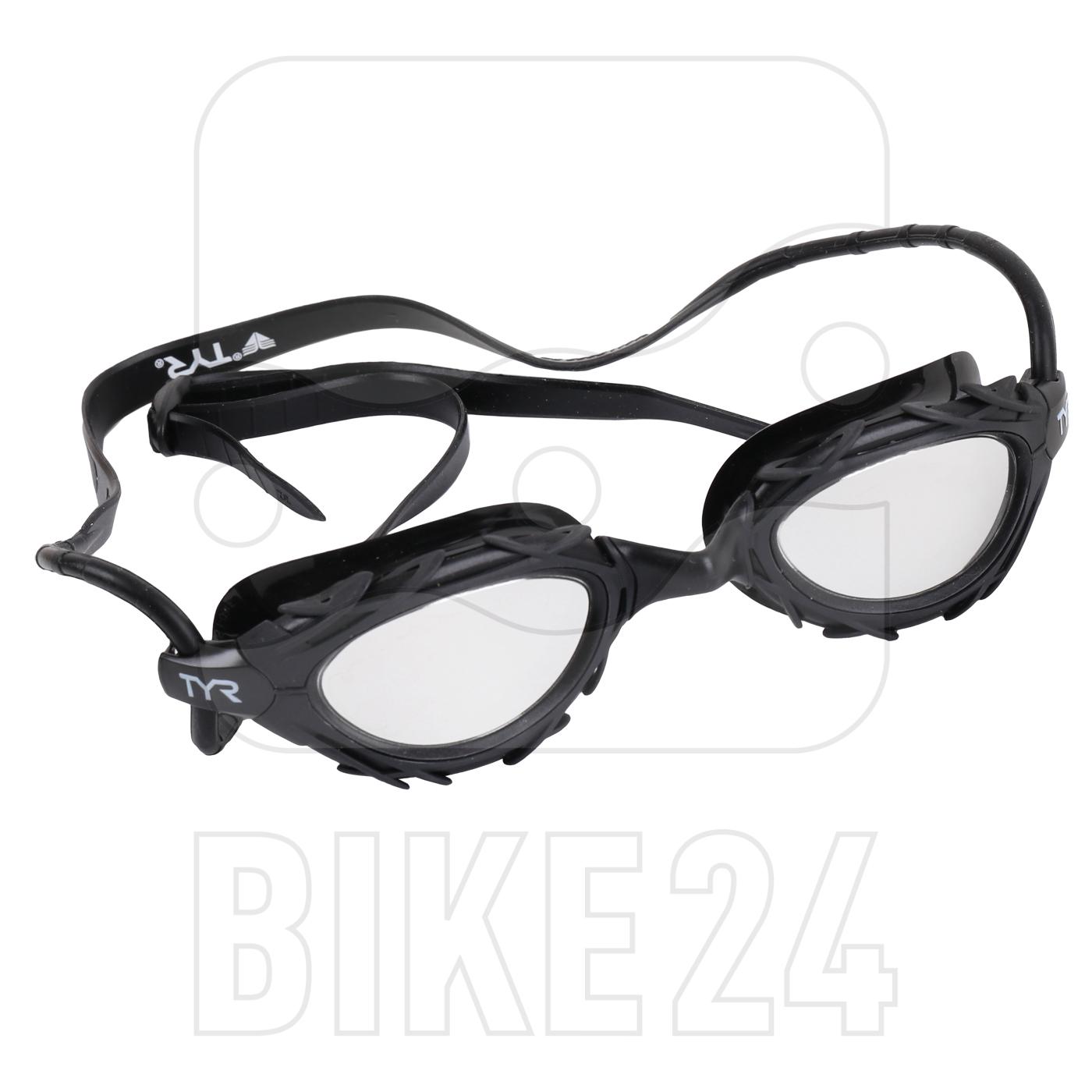 TYR Nest Pro Mirrored Nano Fit Swimming Goggles - titanium silver/black/black
