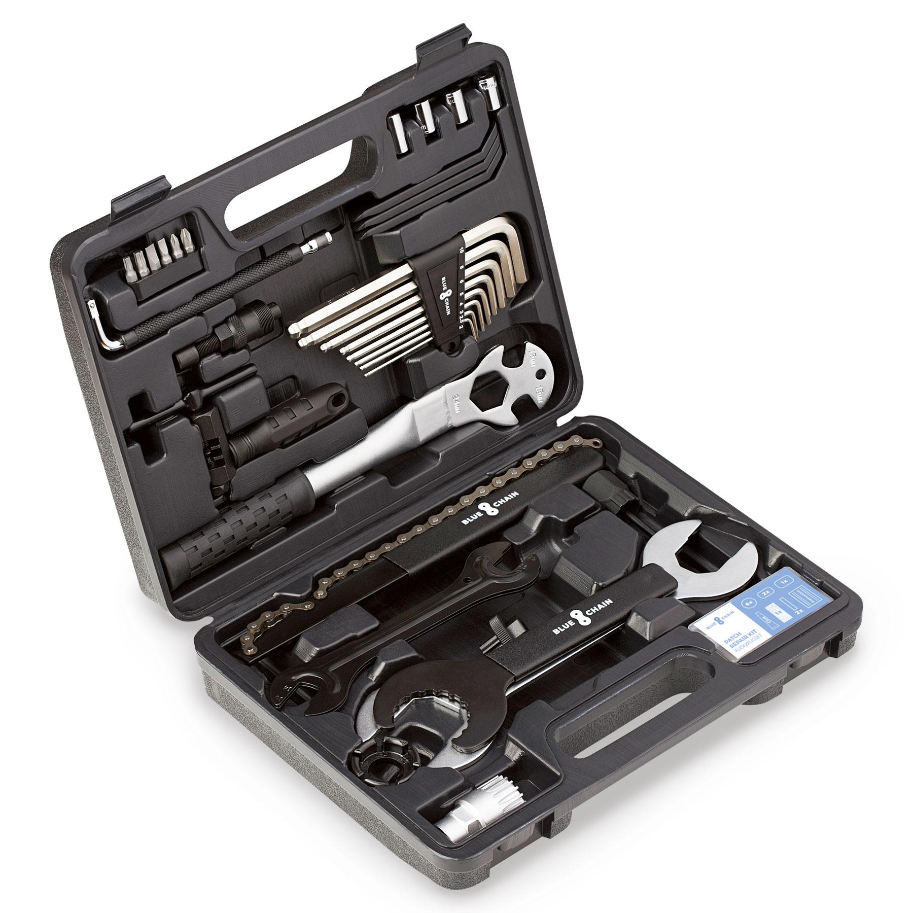 BLUECHAIN Fahrrad Werkzeugset - 37-teilig