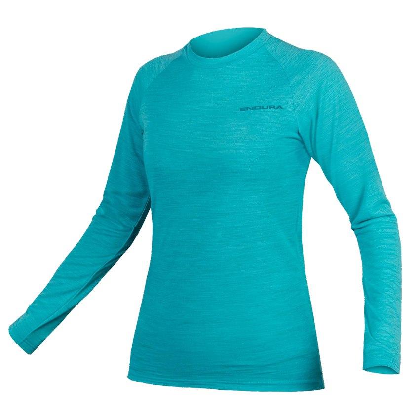 Endura Women's BaaBaa Blend L/S Baselayer - pacific blue
