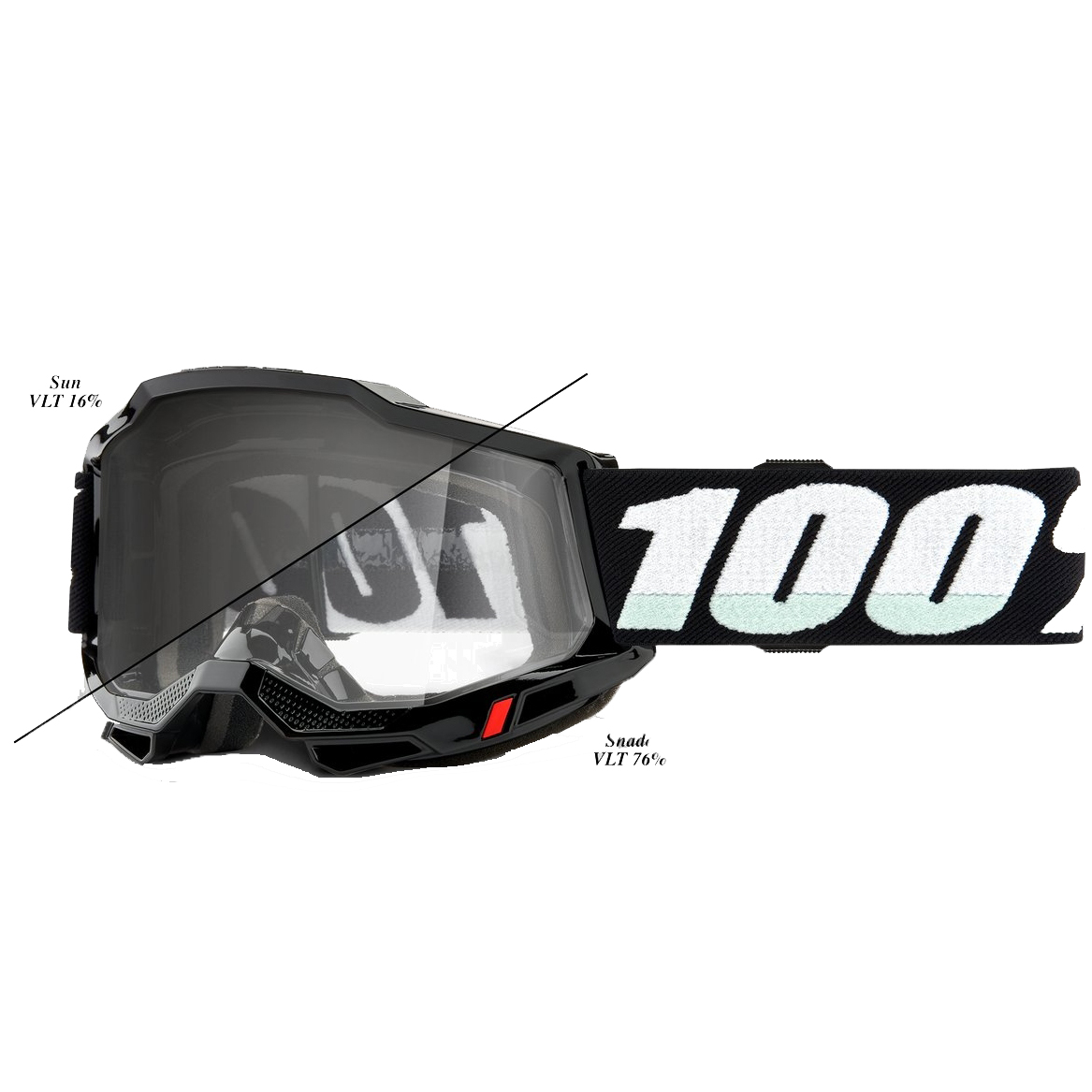 100% Accuri 2 Goggle Photochromic Lens Gafas - Woods Black