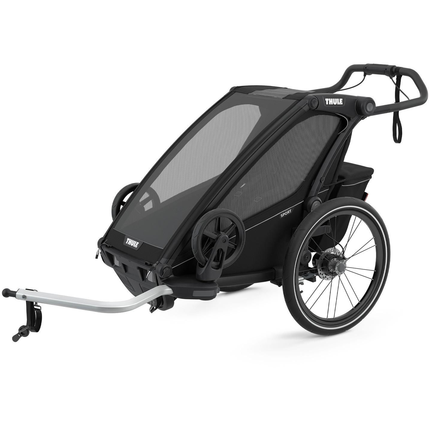 Foto de Thule Chariot Sport 1 - Remolque de bicicleta para 1 niño - midnight black
