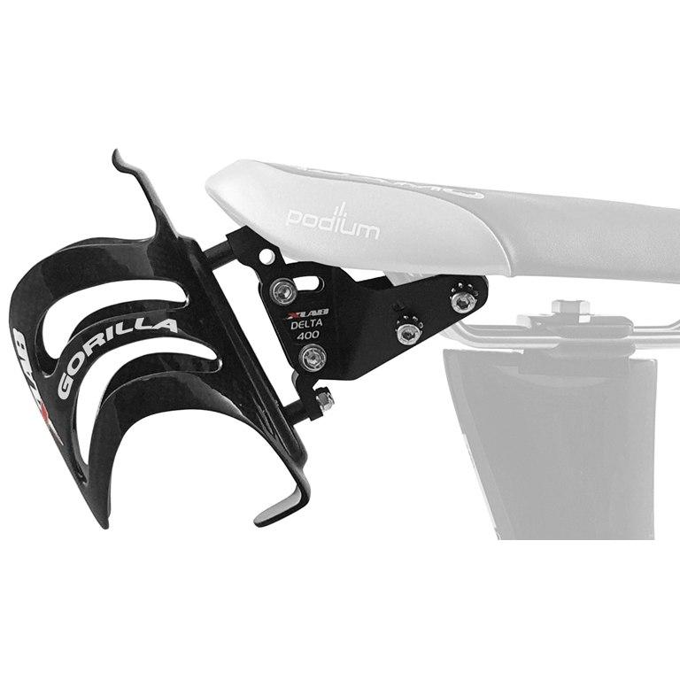 XLAB Delta 400 Adapter + Gorilla Carbon Flaschenhalter - schwarz