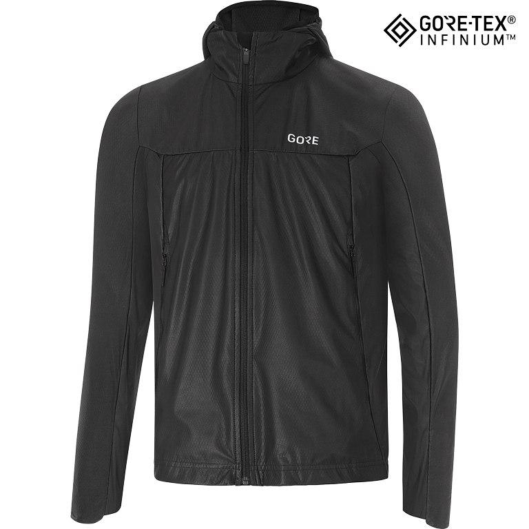 Foto de GORE Wear R5 GORE-TEX® INFINIUM™ Soft Line Shell Hooded Jacket - black 9900