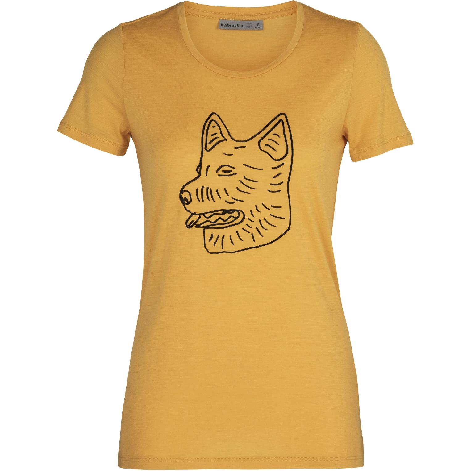 Produktbild von Icebreaker Tech Low Lite Crewe Farm Dog Damen T-Shirt - Safflower
