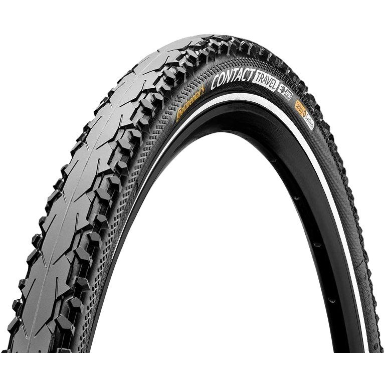 Image of Continental Contact Travel Wire Bead Tire - 26x1.75 Inches - reflex