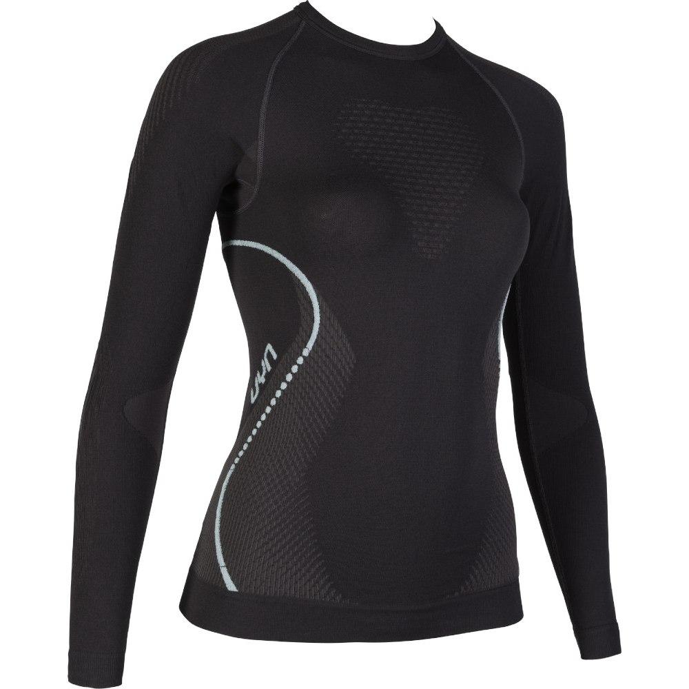 UYN Evolutyon Longsleeve Shirt Women - Charcoal/Anthracite/Aqua