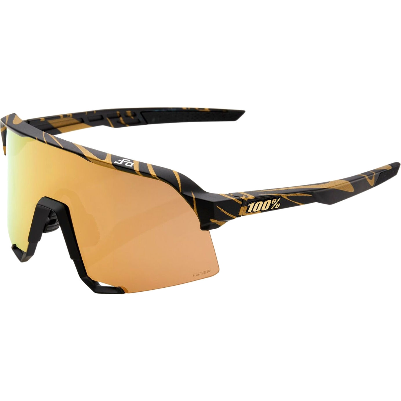 100% S3 LE HiPER Lens Glasses - Peter Sagan Special Edition - Metallic Gold Flake