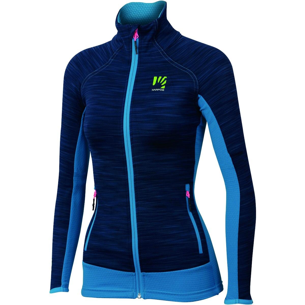 Karpos Vallazza Women's Fleece Jacket - Insignia Blue/Dresden Blue