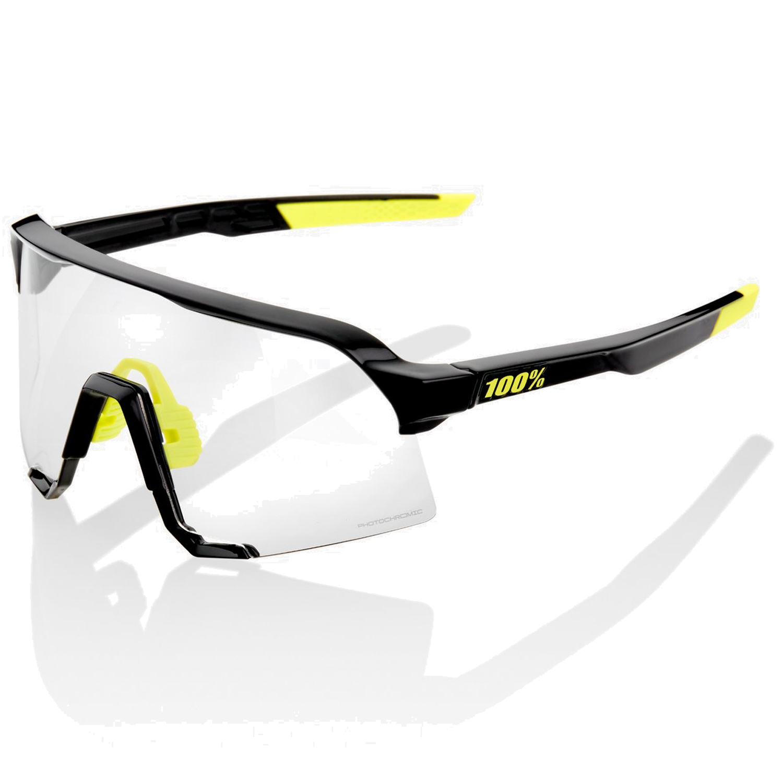 100% S3 Photochromic Lens Gafas - Gloss Black/Photochromic