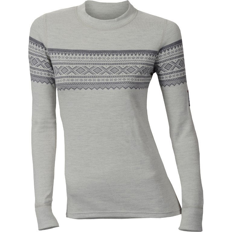 Aclima Designwool Marius Crew Neck Women's Longsleeve Shirt - gråfjell