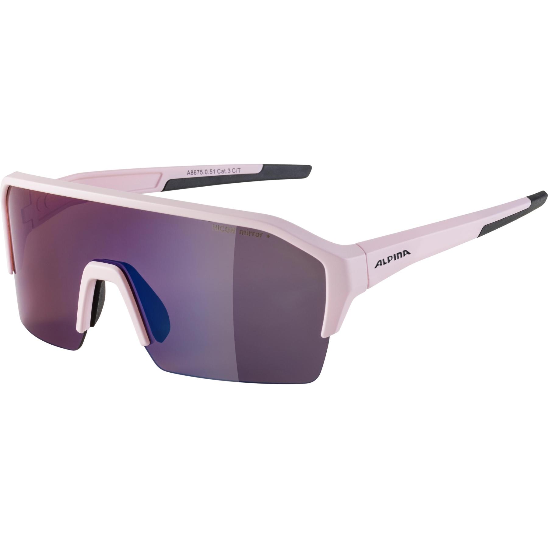 Alpina Ram HR HM+ Glasses - light-rose matt / Hicon blue mirror