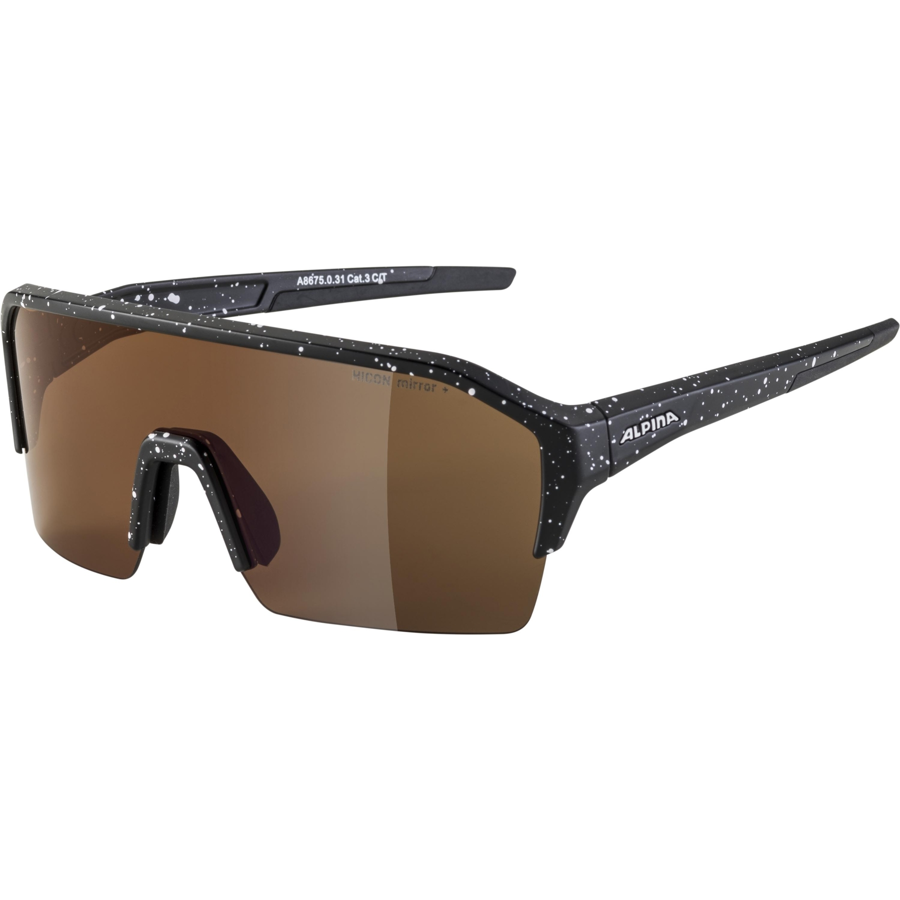 Alpina Ram HR HM+ Glasses - black blur matt / Hicon red mirror