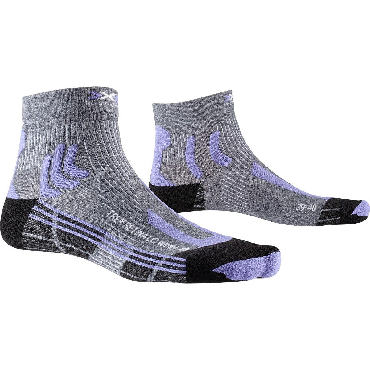 Bild von X-Socks Trek Retina 4.0 Low Cut Damen Socken - grey multi melange/dust