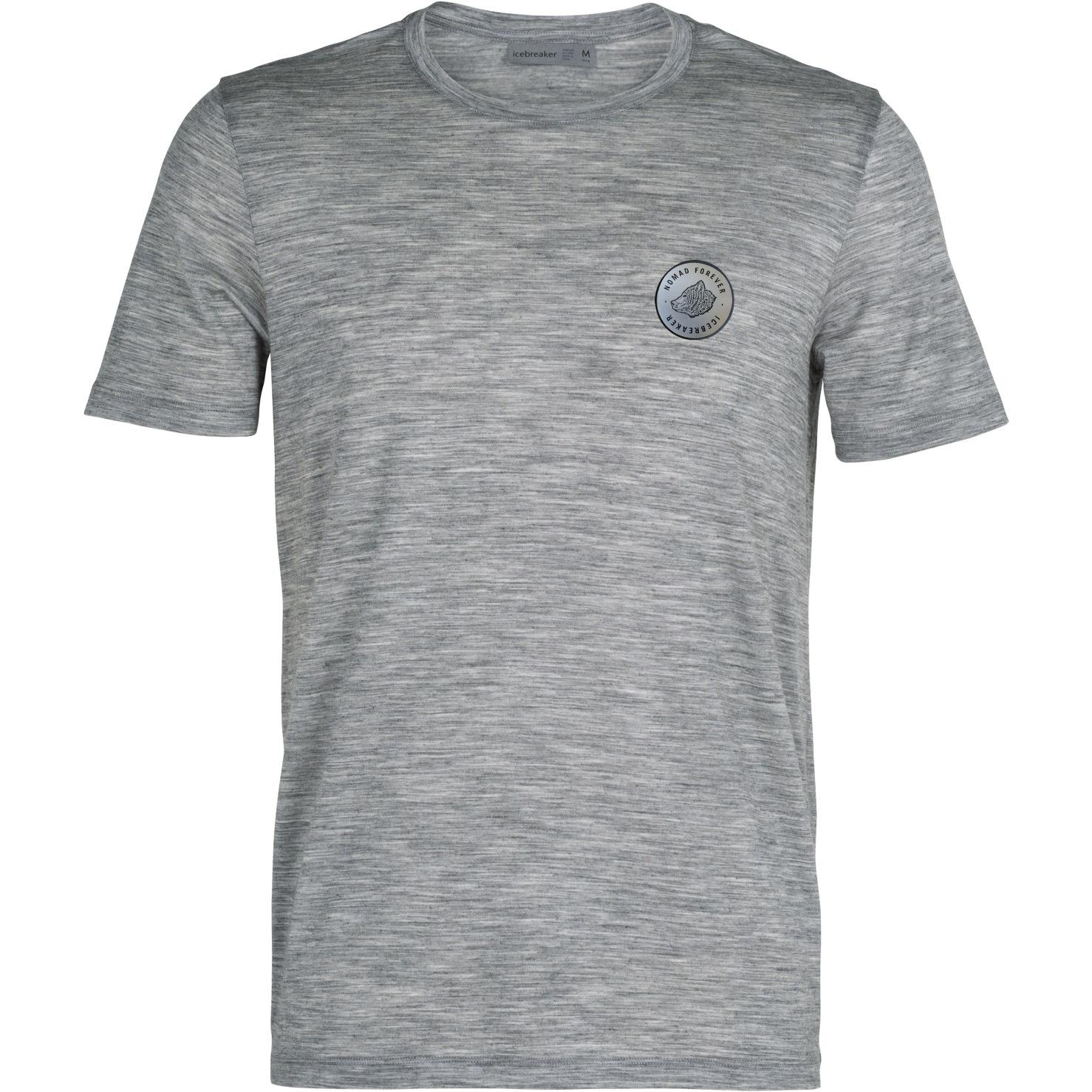 Icebreaker Tech Lite Crewe Move To Natural Herren T-Shirt - Metro HTHR