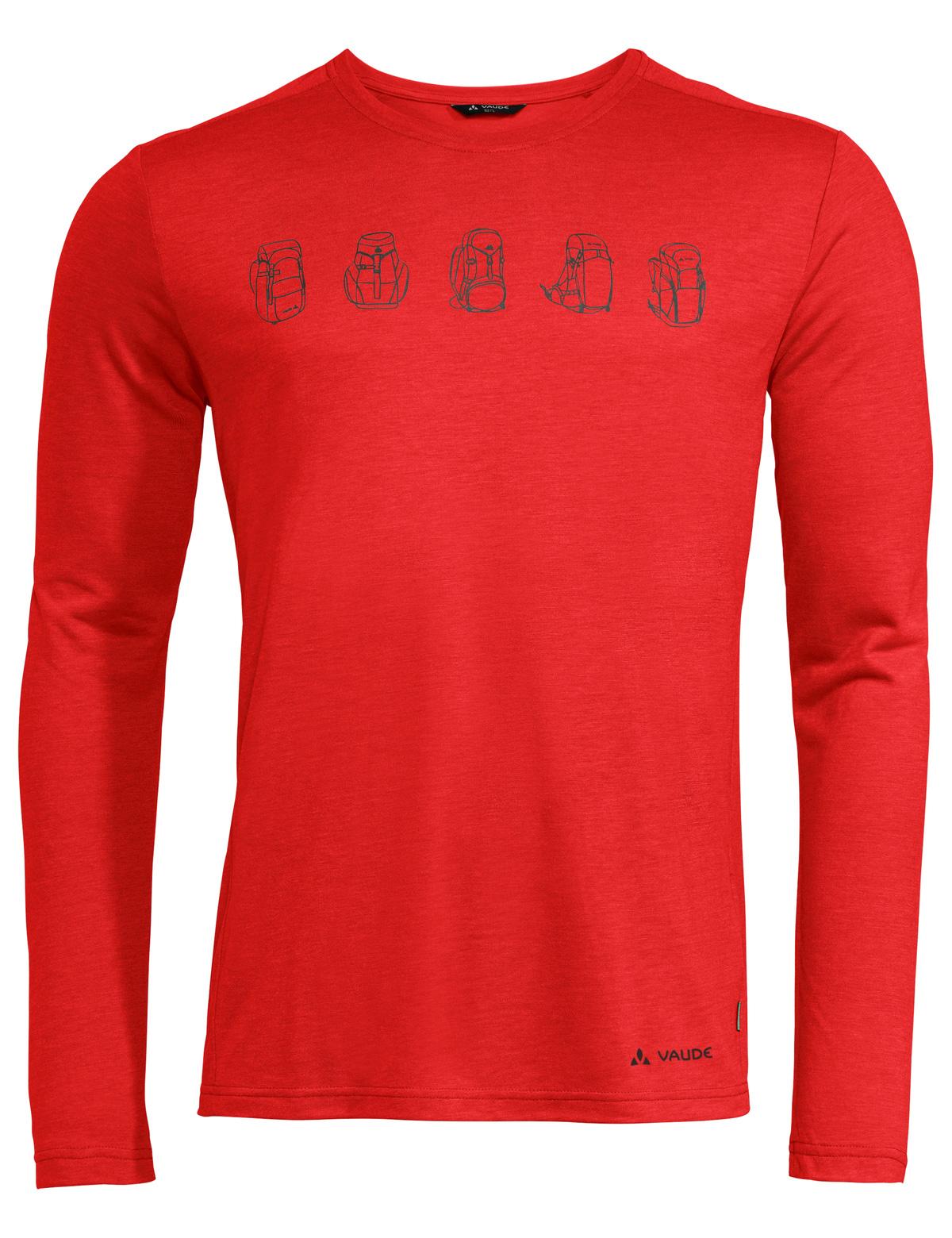 Vaude Men's Rosemoor LS T-Shirt II - mars red