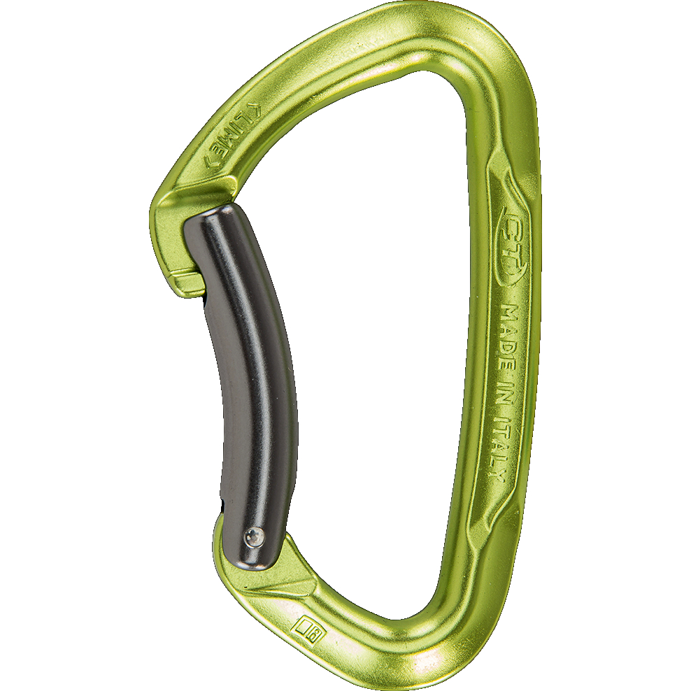Image of Climbing Technology Lime B Carabiner - green / grey