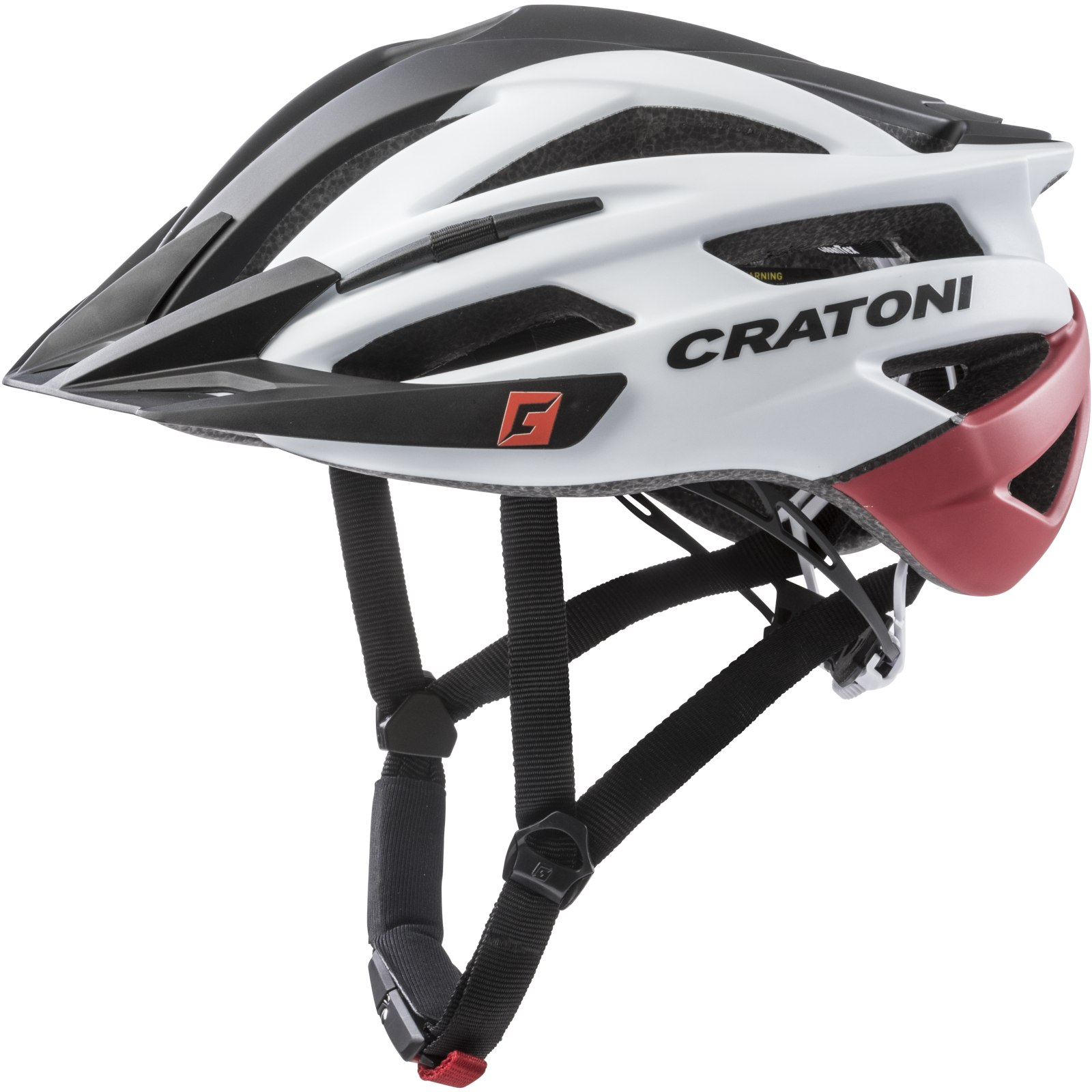 CRATONI Agravic Helmet - black-white-red matt