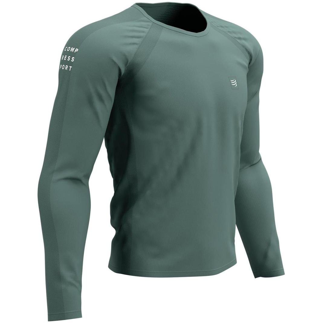 Foto de Compressport Training Camiseta de Manga Larga Unisex - silver pine