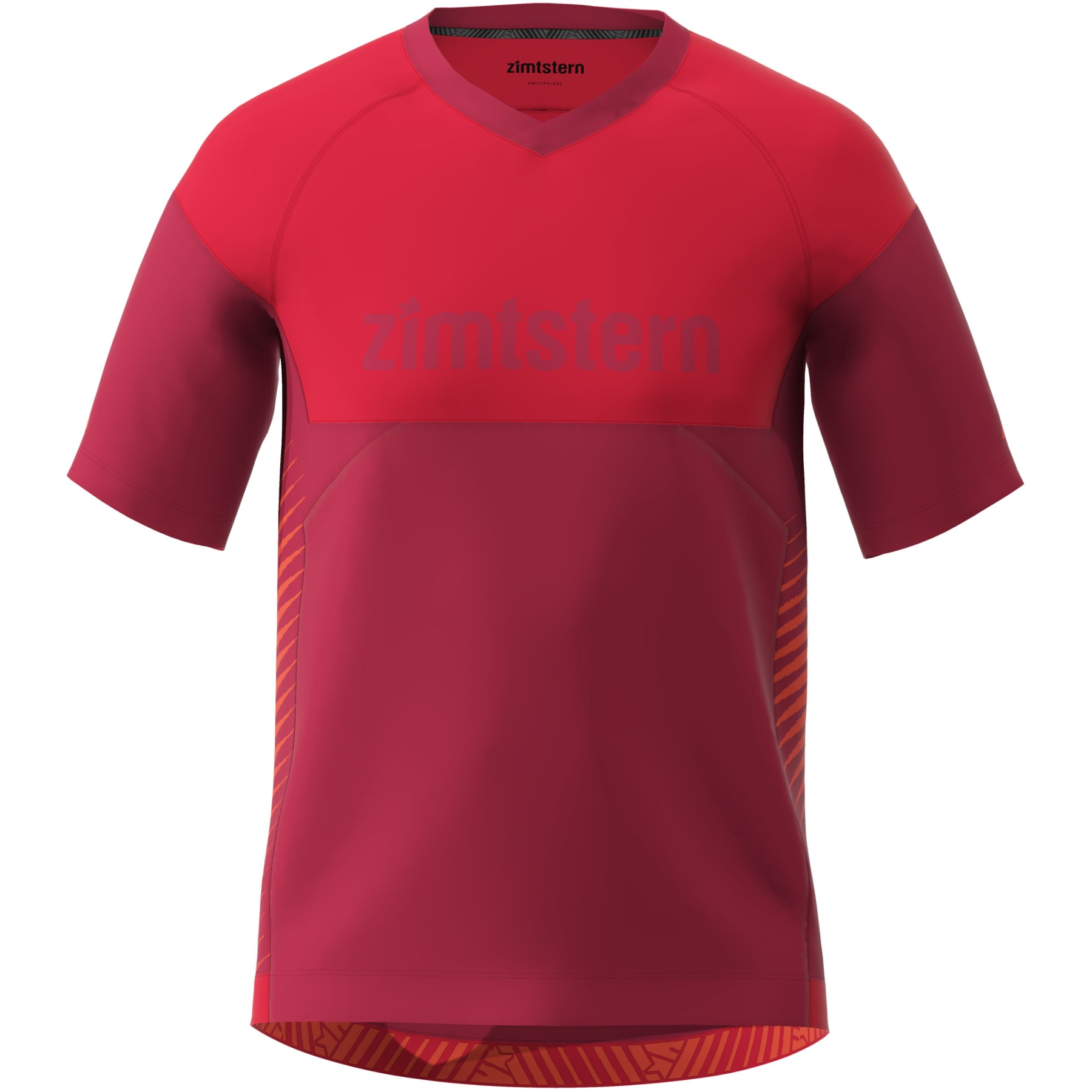 Zimtstern Bulletz Kurzarm-Shirt - jester red/cyber red/tomato