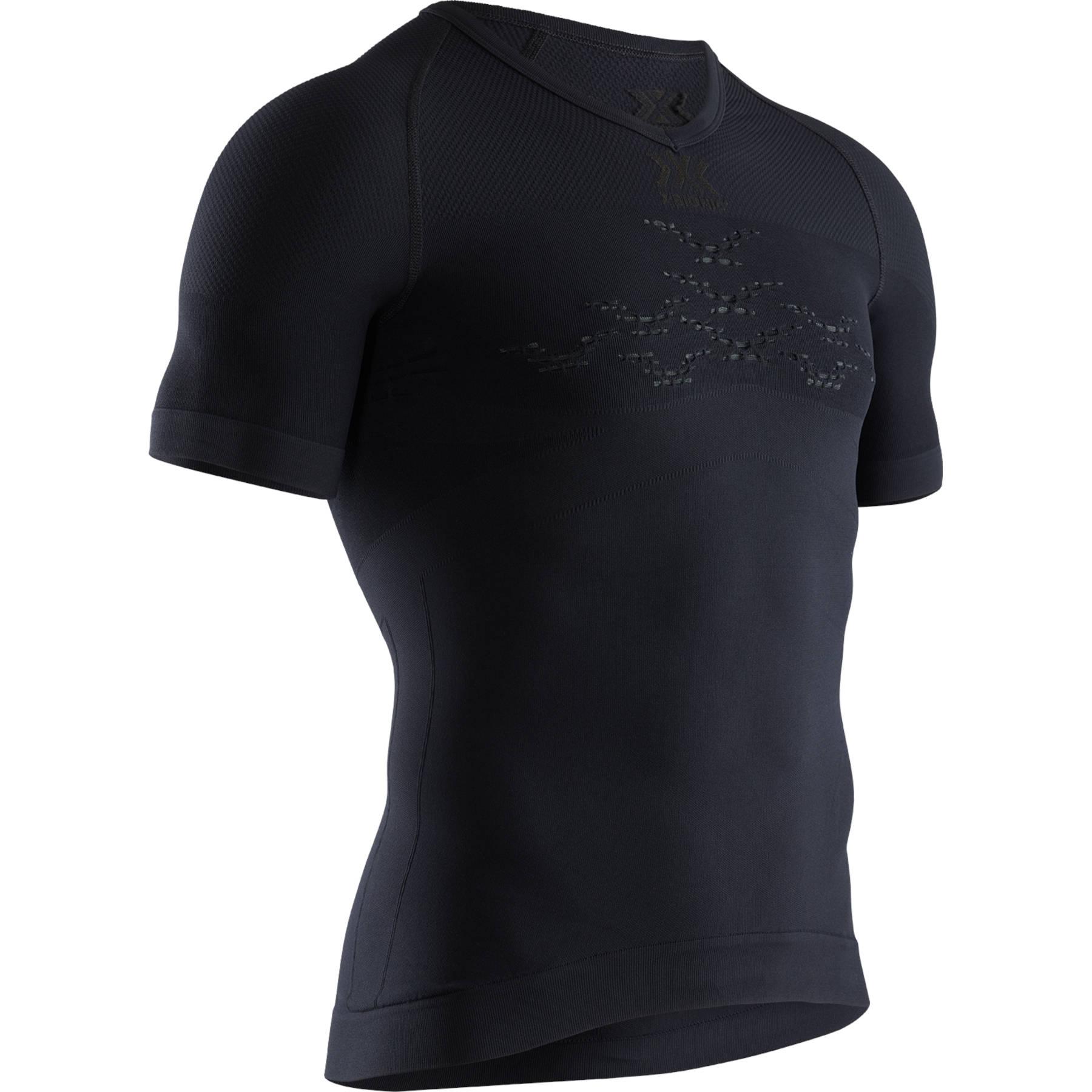 X-Bionic Energizer LT V-Neck Short Sleeves Shirt for Men - opal black/arctic white
