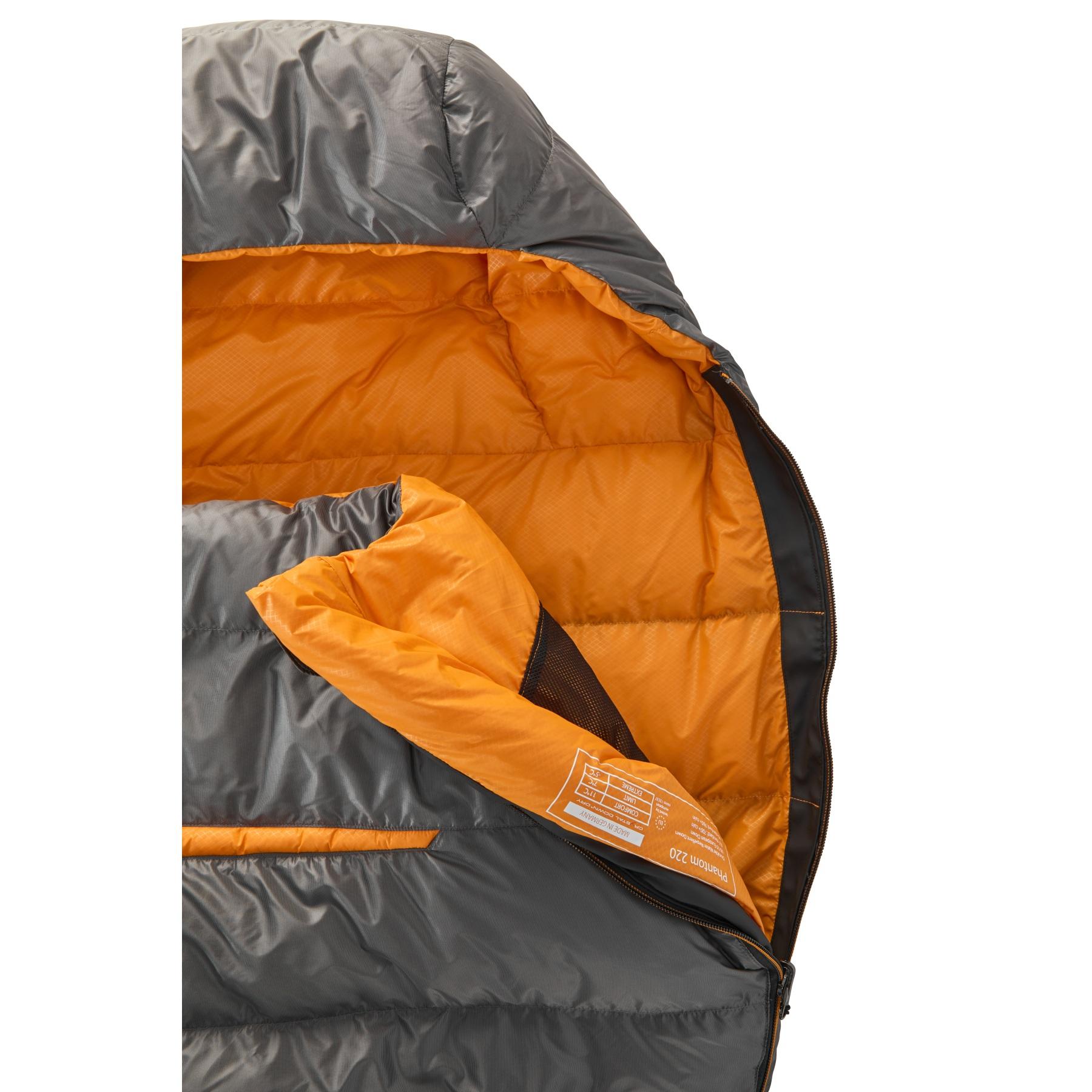 Bild von Y by Nordisk Phantom 220 L Schlafsack - smoked pearl/orange