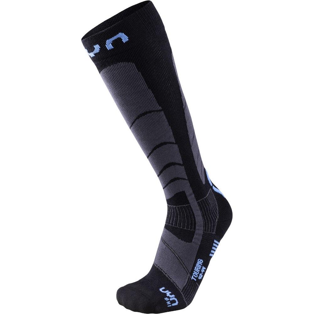 UYN Man Ski Touring Socken - Black/Azure