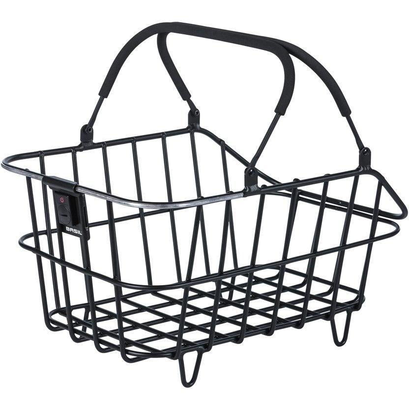 Image of Basil Cento Alu Multi System Nordlicht Bike Basket - matt black