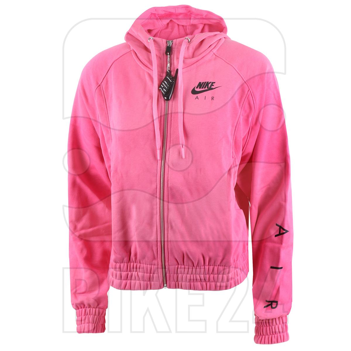 Image of Nike Air Women's Full-Zip Fleece Hoodie - pinksicle/black CU5442-684