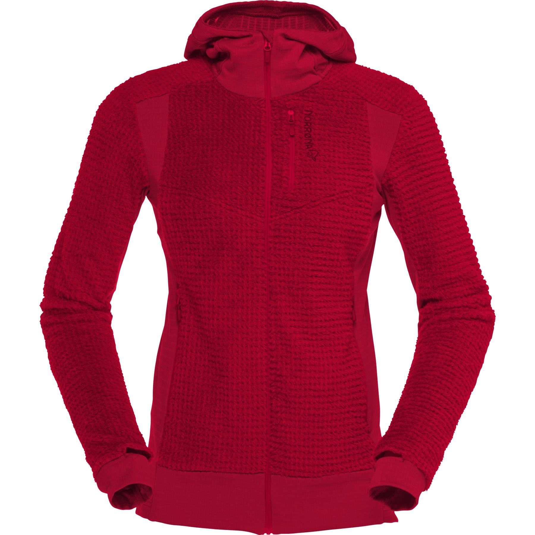 Norrona falketind Alpha120 Zip Hood Chaqueta para Mujer - Jester Red