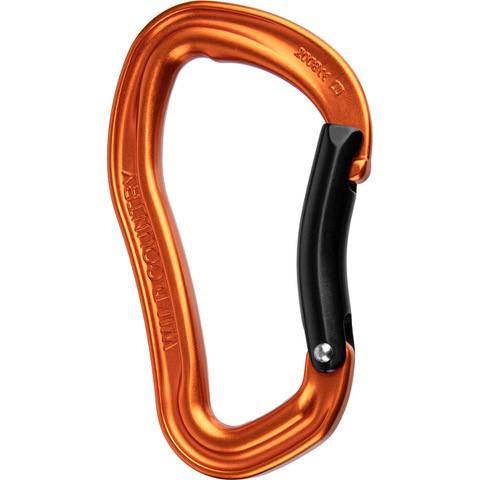 Wild Country Electron Bent Gate Karabiner - Orange/Black