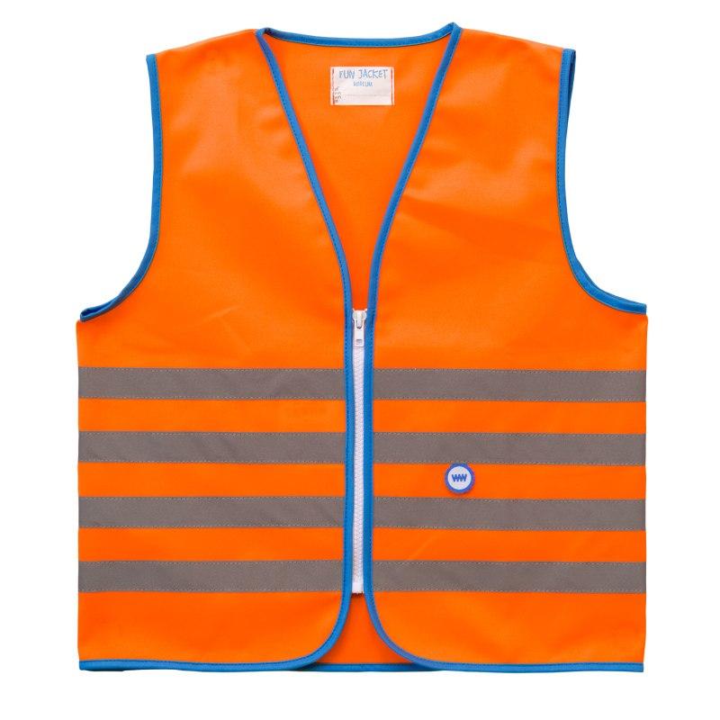 WOWOW Fun Jacket Kinder Sicherheitsweste - orange