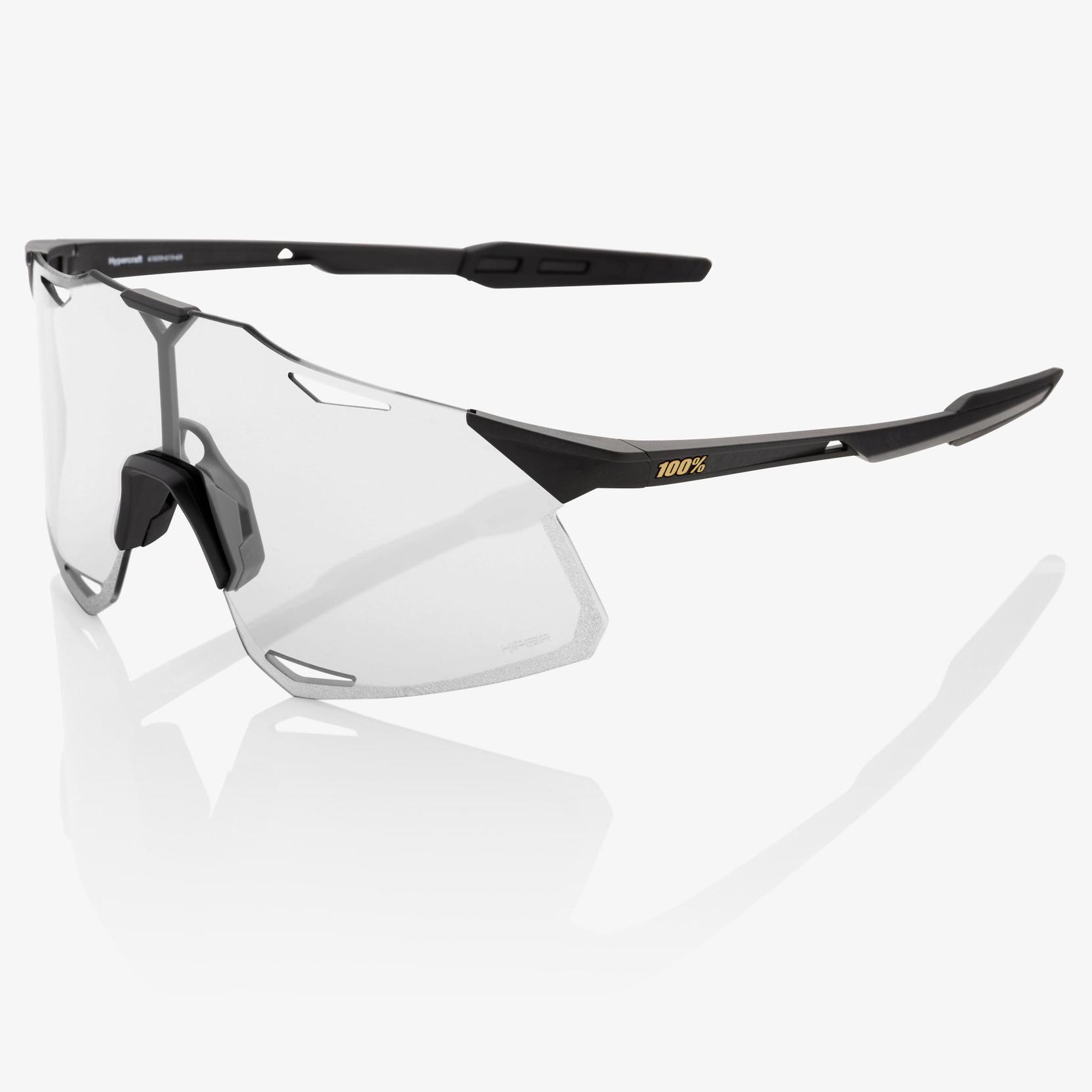 Imagen de 100% Hypercraft Mirror Lens Glasses - Matte Black/Soft Gold + Clear