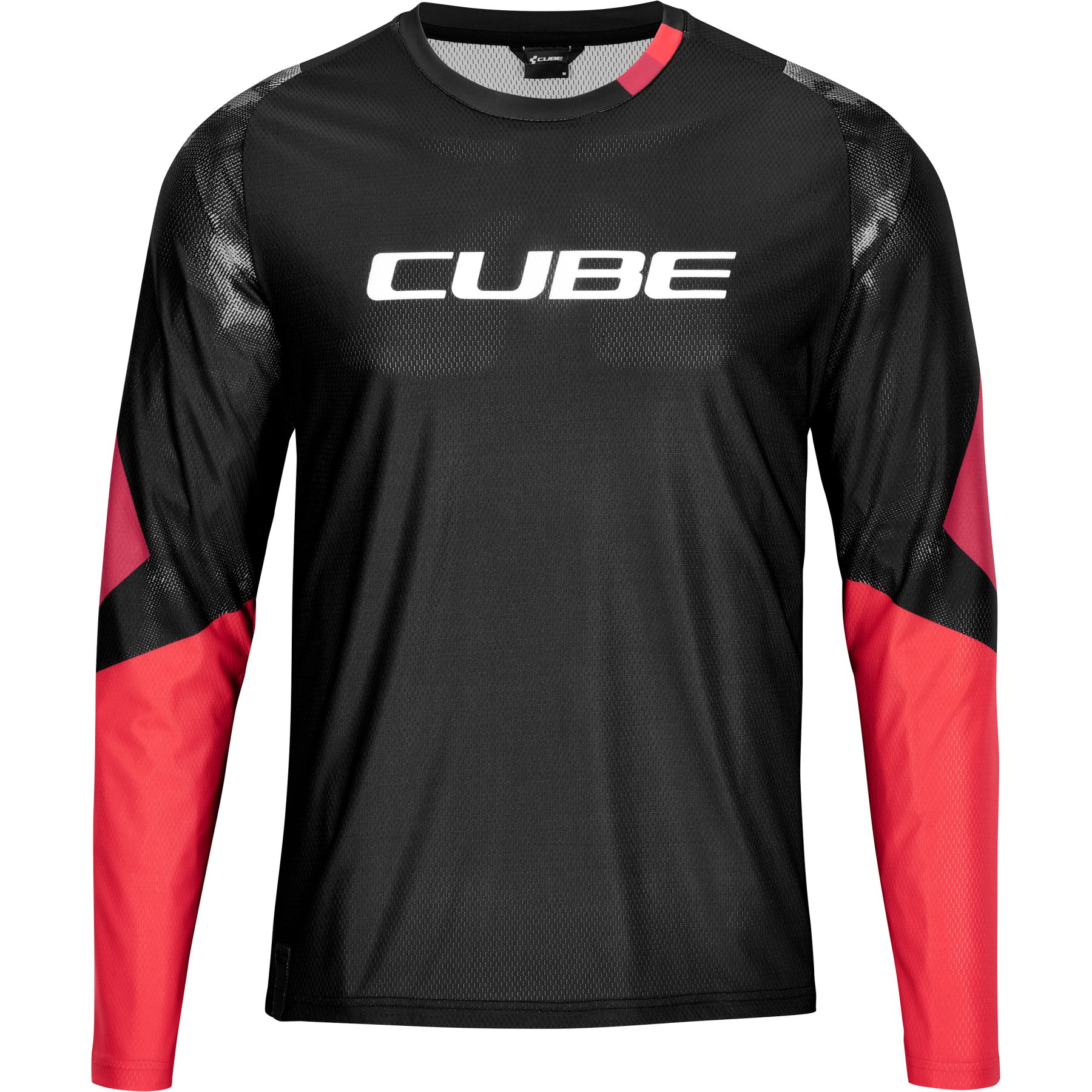 Picture of CUBE EDGE Round-Neck Longsleeve Jersey - black'n'red