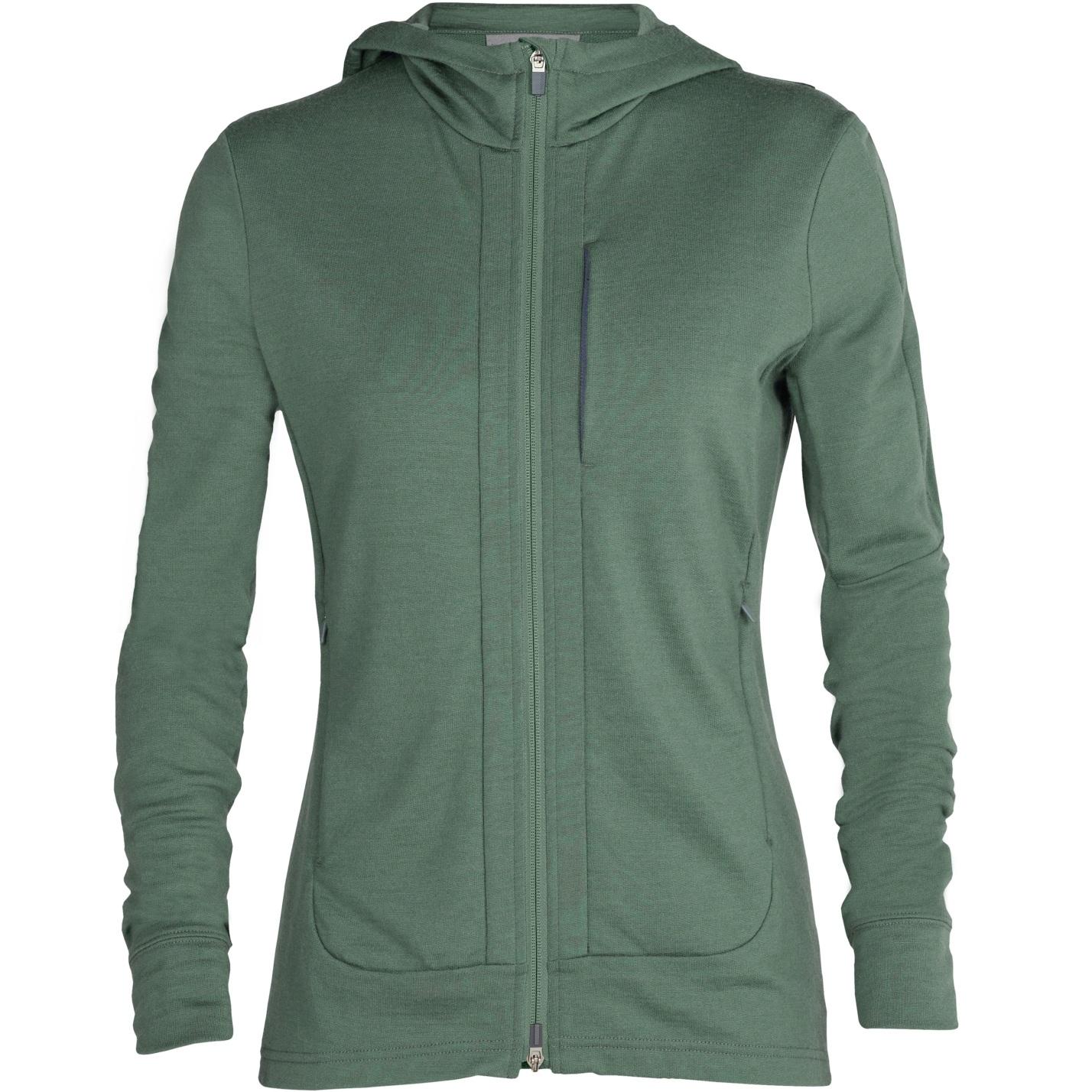 Produktbild von Icebreaker Quantum III Long Sleeve Zip Hood Damen Midlayer Jacke - Sage
